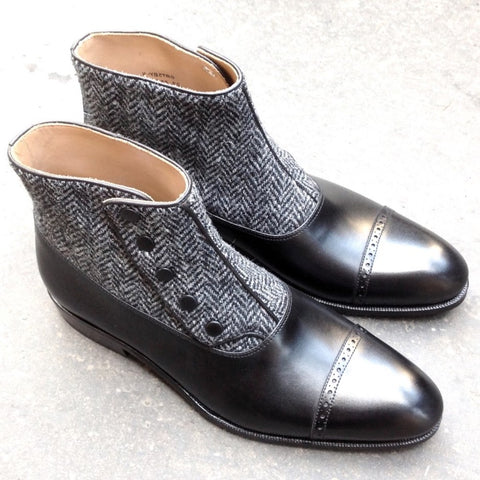 Gatsby - Black Calf / Tweed