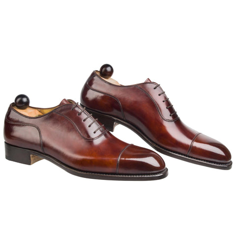 Plain Italian Oxford - Gold Museum Calf