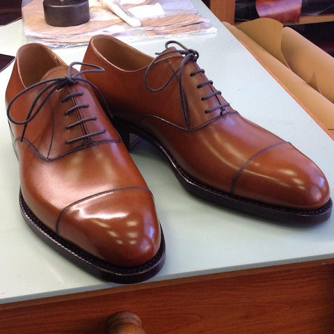 Old English Oxford - Antique Cognac Calf