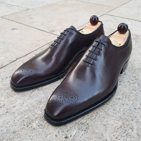 Wholecut Oxford - Oxblood Calf