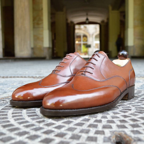 Austerity Oxford - 6125 Dark Cognac Calf