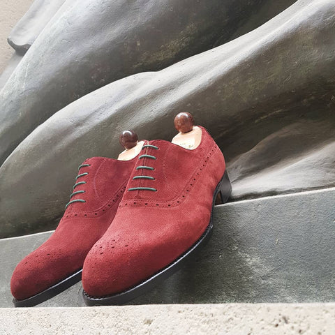 French Oxford - Red Suede