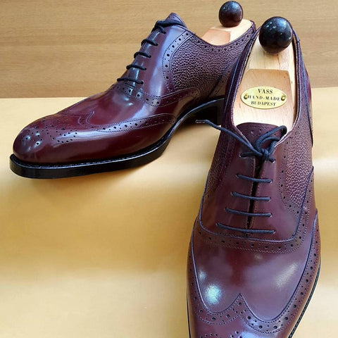 Budapest Oxford - Burgundy Calf / Burgundy Grain