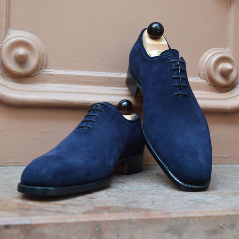 Wholecut Oxford - Blue Suede