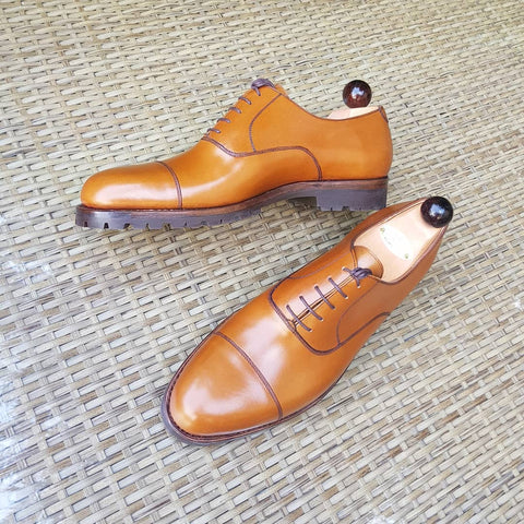 Old English Oxford - Cognac Calf