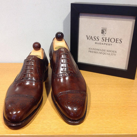 Semi Brogue Oxford - Walnut Museum Calf