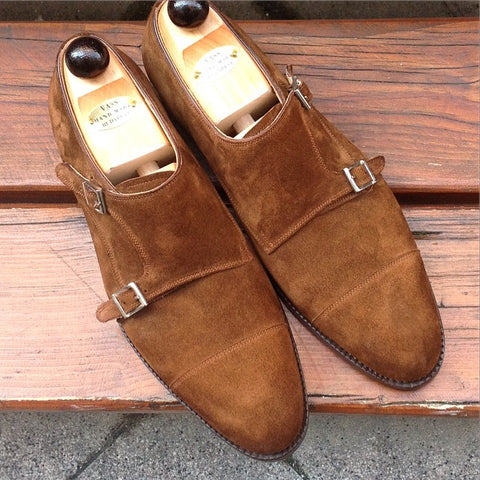 Double Monk - Mid Brown Suede