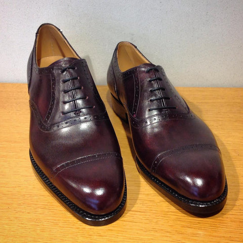 Quarter Brogue Oxford - Plum Museum Calf