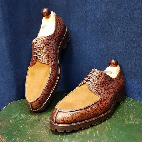Norweger Derby - Cognac Grain / Light Brown Suede