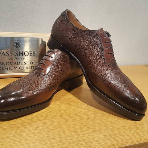 Budapest Oxford - Brown Calf / Brown Grain