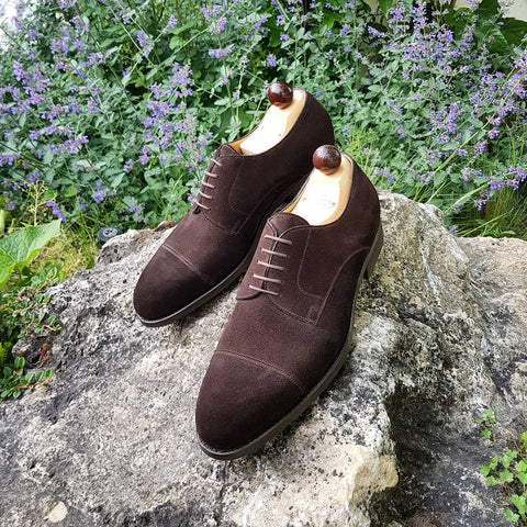 Theresian Derby - Dark Brown Suede