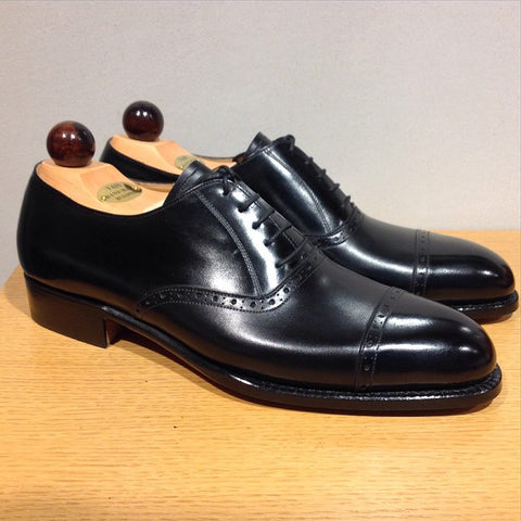 Quarter Brogue Oxford - Black Calf
