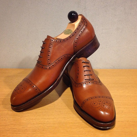 Semi Brogue Oxford - Cognac Calf