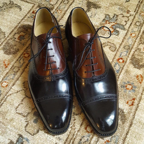 French Oxford - Black Calf / Antic Cognac Calf