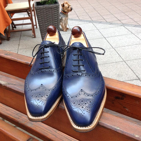 Budapest Oxford - Royal Blue Calf