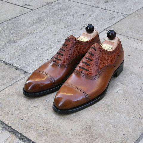 Old English II Oxford - Cognac Calf / Cognac Grain