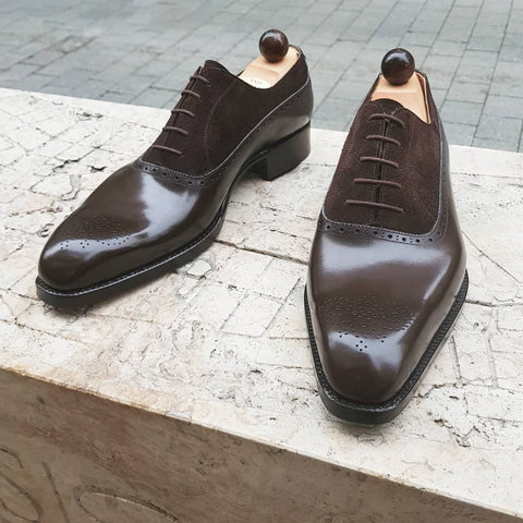French Oxford - Dark Brown Calf / Dark Brown Suede