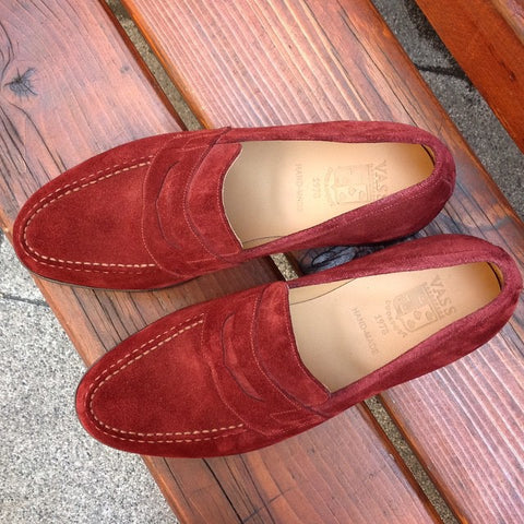 Penny Loafer - Bordeaux Suede