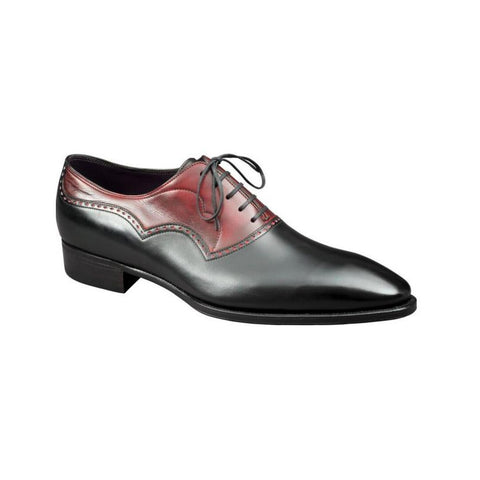 Wilfrid - Black Calf / Lie de Vin Calf Patina
