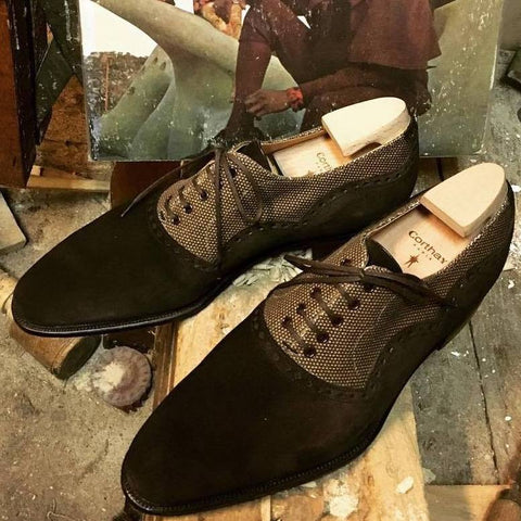Wilfrid - Dark Brown Suede / Canvas
