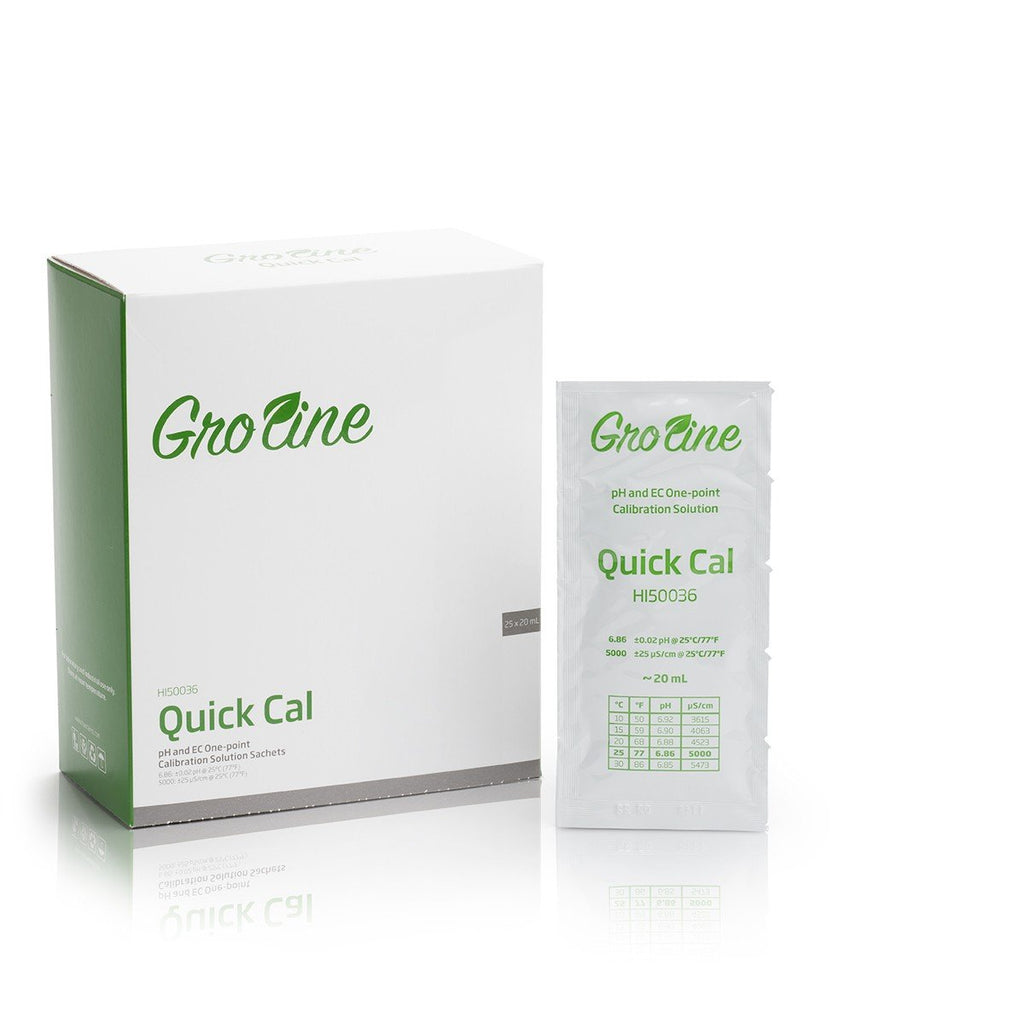 GroLine Quick Cal Combo Calibration Solution (25 x 20 mL sachets)