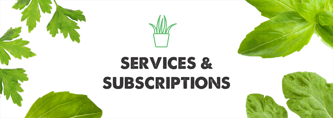 Services & Subscriptions Landing Page