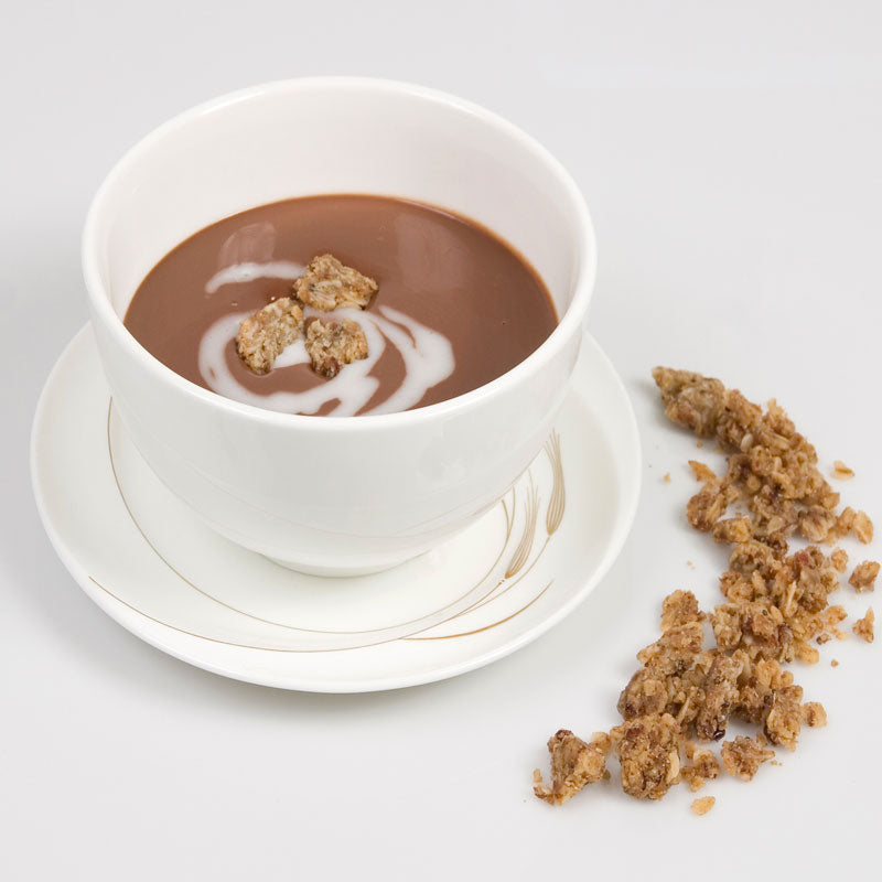 Chocolate Dessert Soup with Coconut Creme & Ginger Cardamom Zest