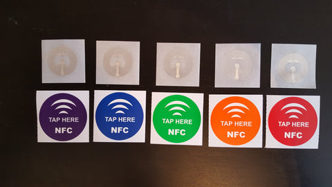 Universal NFC Stickers Tag Label - 5 pk