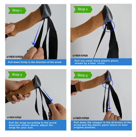 How To Adjust Trekking Pole Straps