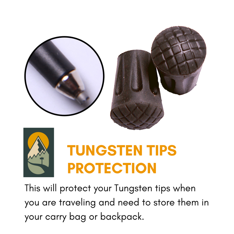 Hiker Hunger - Rubber Tips - Best Hiking Gear!