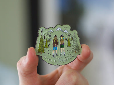 The Mountains are Calling Enamel Pin