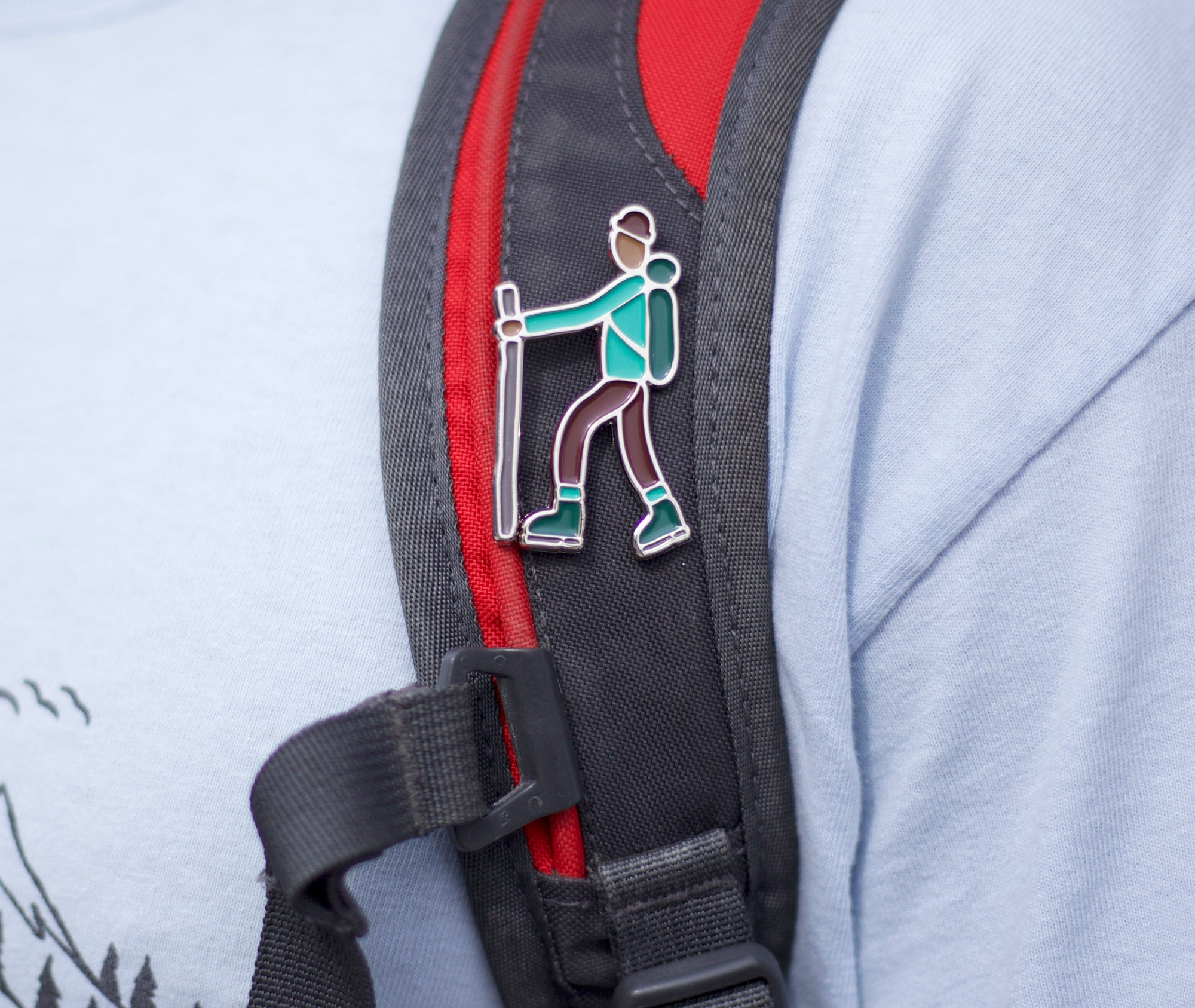 Take a Hike Enamel Pin