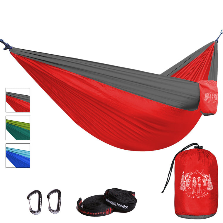 Hiker Hunger - Red Hammock Set - Best Hiking Gear!