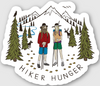 Hiker Hunger - The Mountains Are Calling Sticker - Best Hiking Gear!