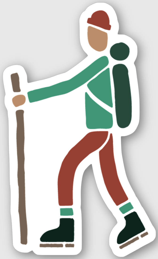 Hiker Hunger - Take a Hike Sticker - Best Hiking Gear!