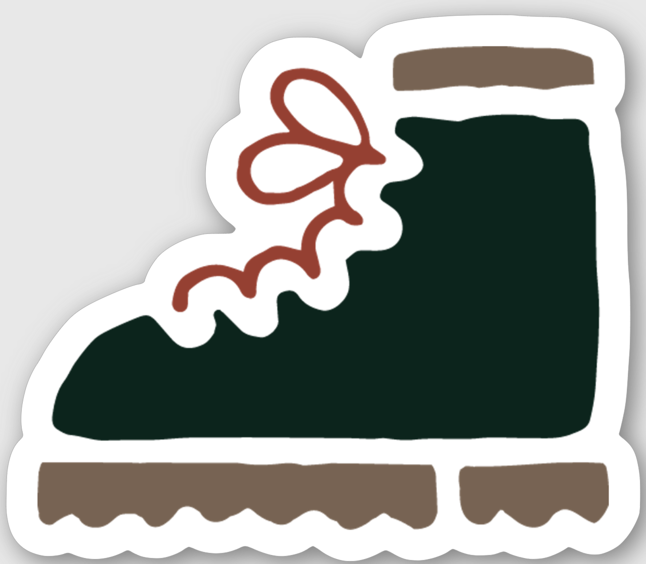 Hiker Hunger - Happy Trails Sticker - Best Hiking Gear!