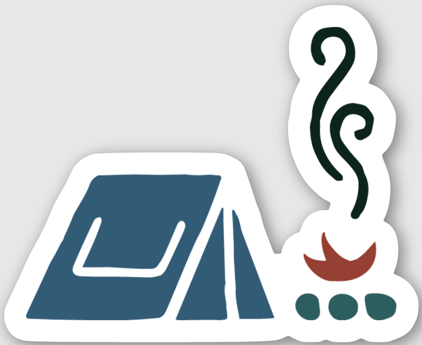 Hiker Hunger - Campfire Sticker - Best Hiking Gear!
