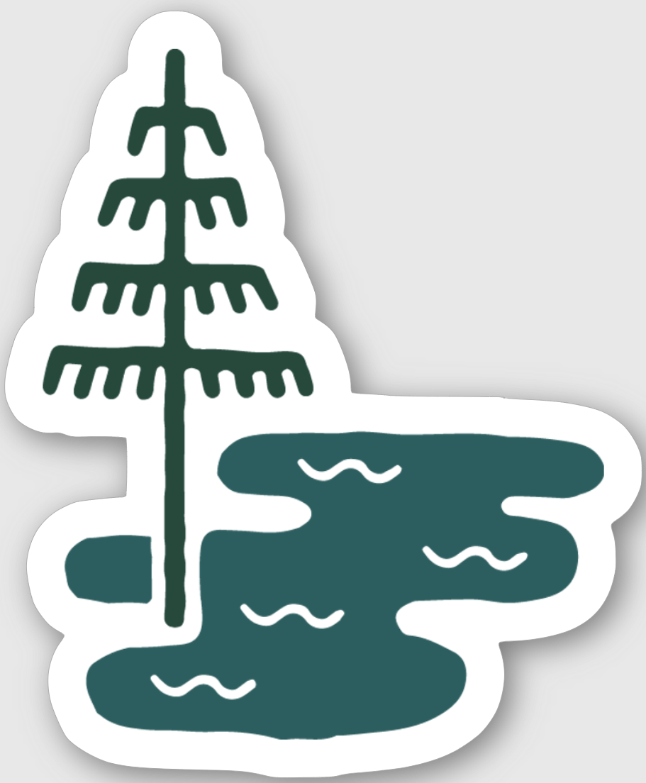 Alpine Lake Sticker