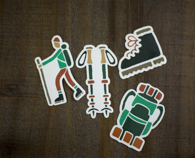 Hiking Essentials Sticker Pack