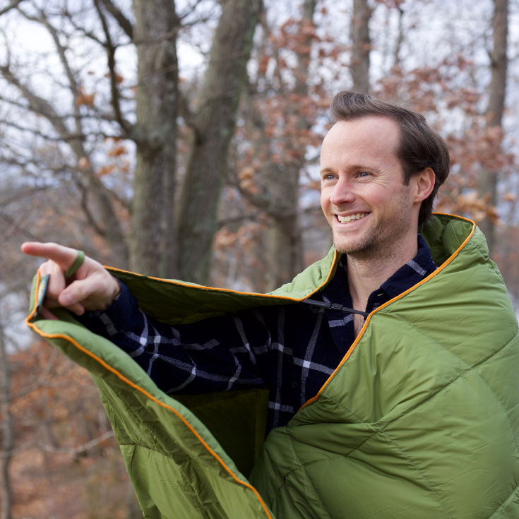 Down Insulated Camping Blanket