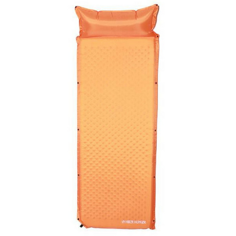 Hiker Hunger - Orange Self Inflating Pad - Best Hiking Gear!