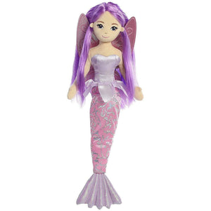 "Aurora | Sea Sparkles Fairy Mermaid Sirena 18"" 092943332294 Super Cichlids"