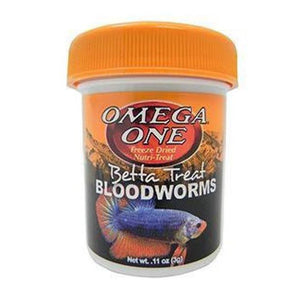 Omega One | Betta Treat Bloodworms 698220031715 Super Cichlids