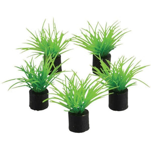 "Underwater Treasures | Mini Plant - Green Grass - 1.5"" - 5 pk 628742014330 Super Cichlids"