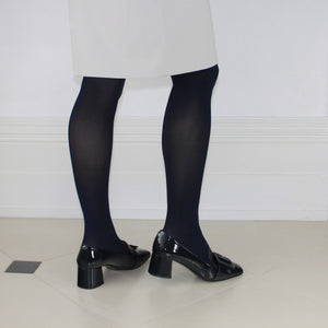 Mary Loafer - Navy Patent