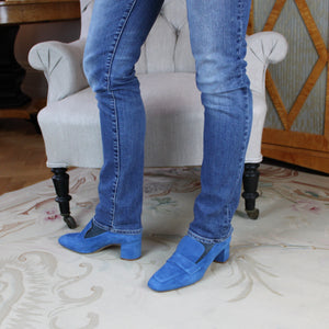 Ursula - Blue Suede Loafer