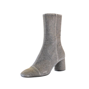 Ankle boot silver fitted long length