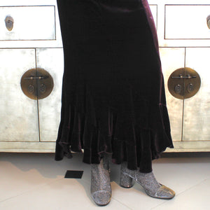 Rock chic silver ankle boot long length fitted calf