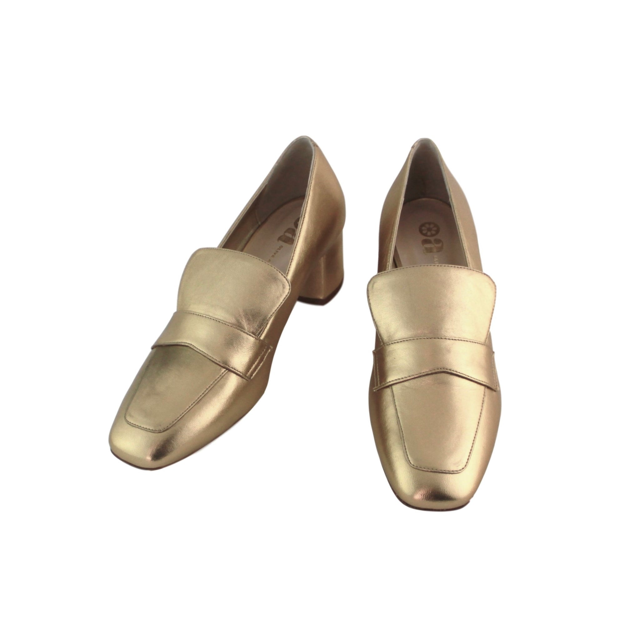 Ursula Loafer - Gold Nappa Leather