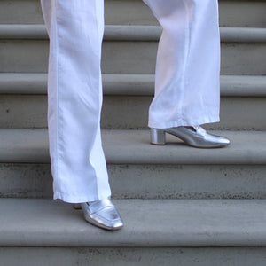 Ursula Loafer - Silver Nappa Loafer